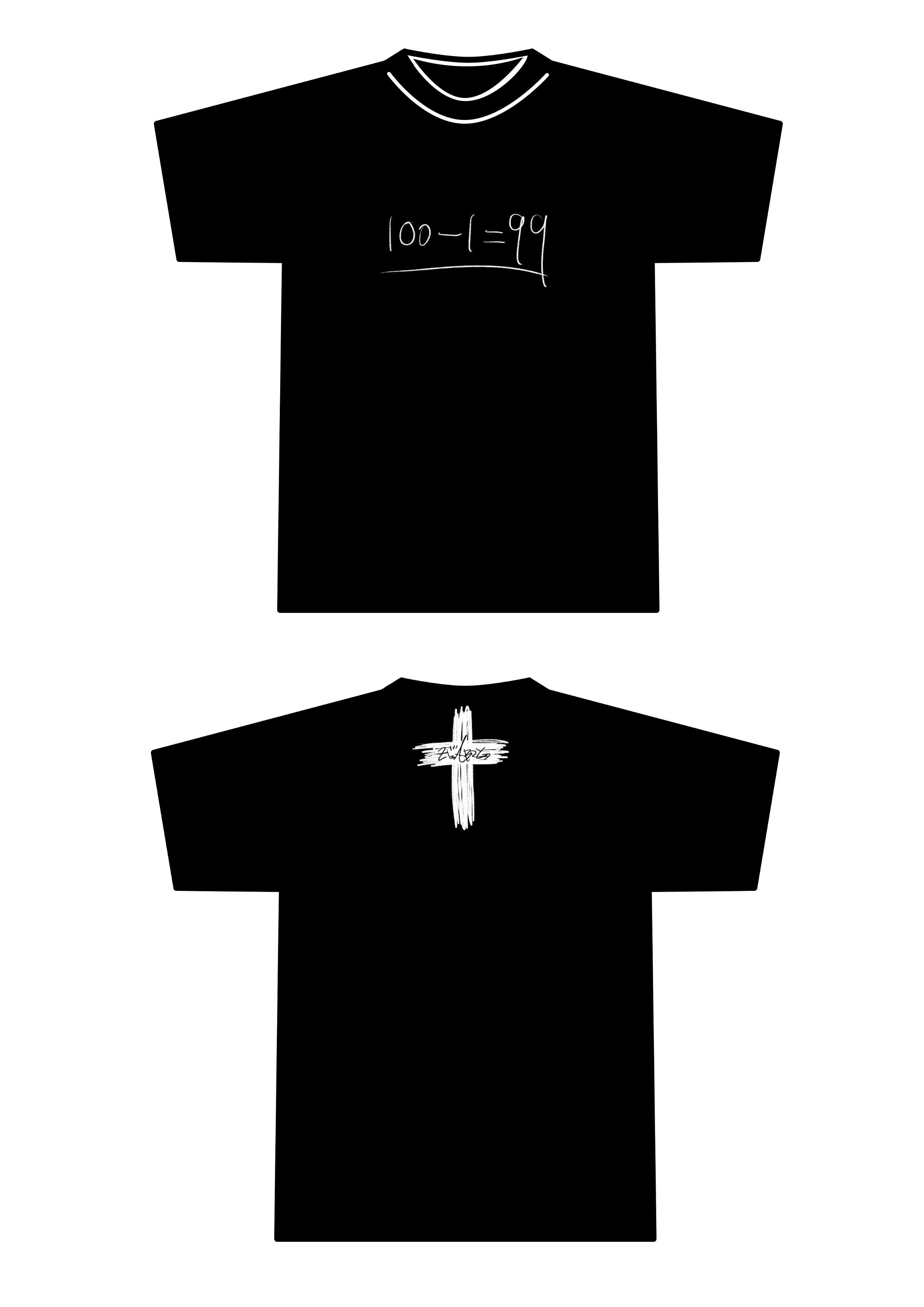 100から1引いたら…Tシャツ